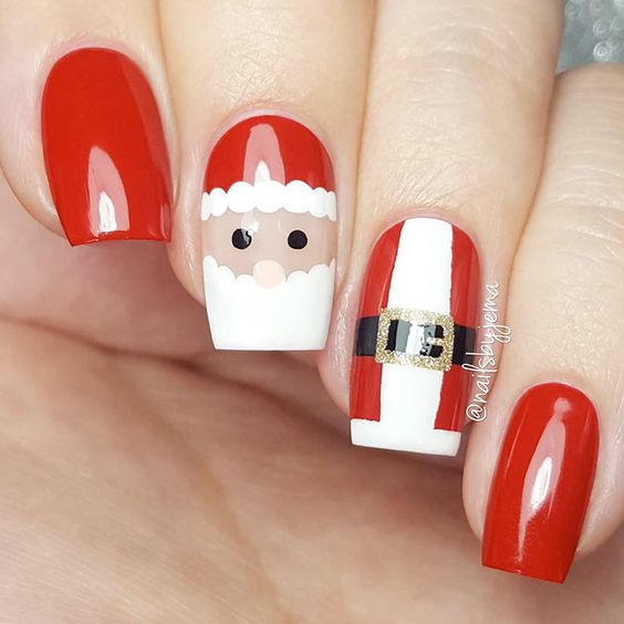 38 Amazing Christmas nail ideas for 2018; Christmas short nails; Christmas coffin nails; Christmas acrylic nails; Christmas almond nails.
