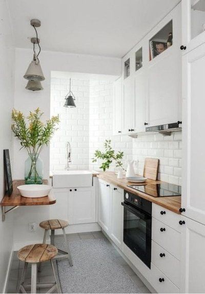 Tiny kitchen; small kitchen; kitchen ideas for small space; mini kitchen ideas; efficiency kitchen ideas; kitchen design small.